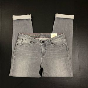 NWT Talbots Signature Ankle Jeans Gray 6P/28